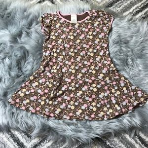 Gymboree brown casual dress with flowers size 3
